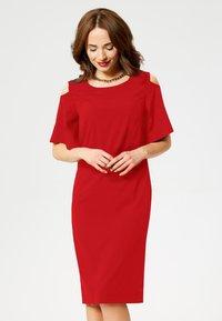 faina - Day dress - red - 0