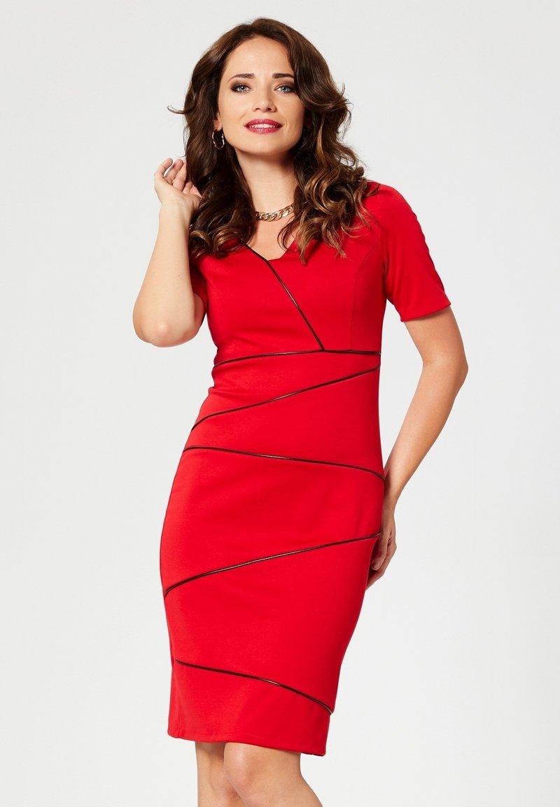 Faina - Robe fourreau - red