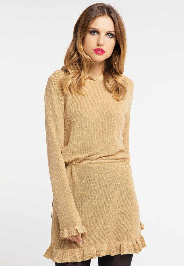Vestido de punto - gold