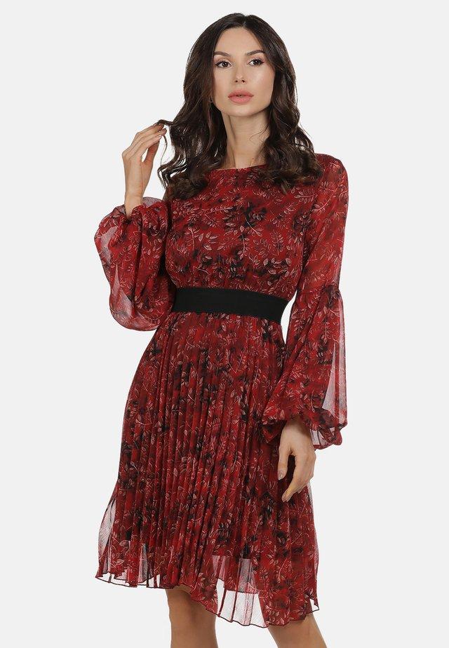 FREIZEITKLEID - Sukienka letnia - roter blumen print