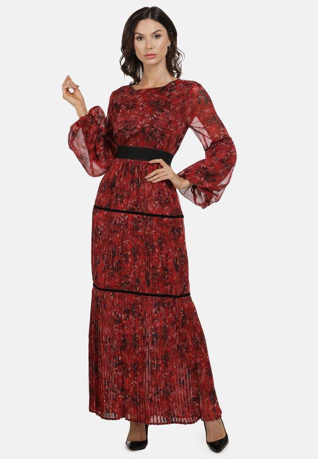 Maxi dress - roter blumen print
