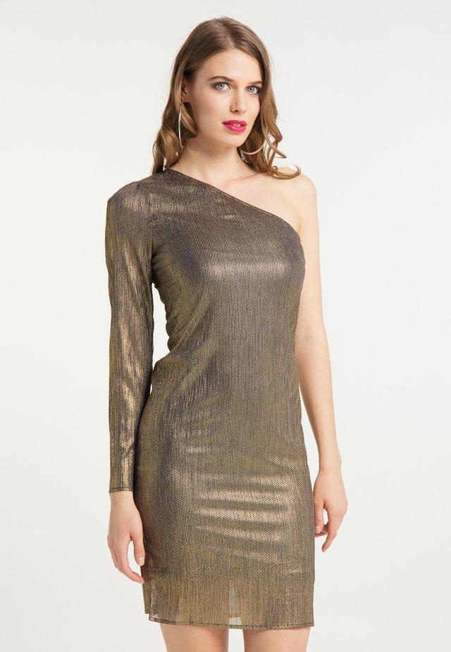 Cocktailklänning - schwarz gold