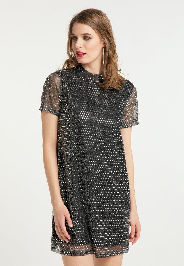 ABEND - Cocktail dress / Party dress - schwarz silber
