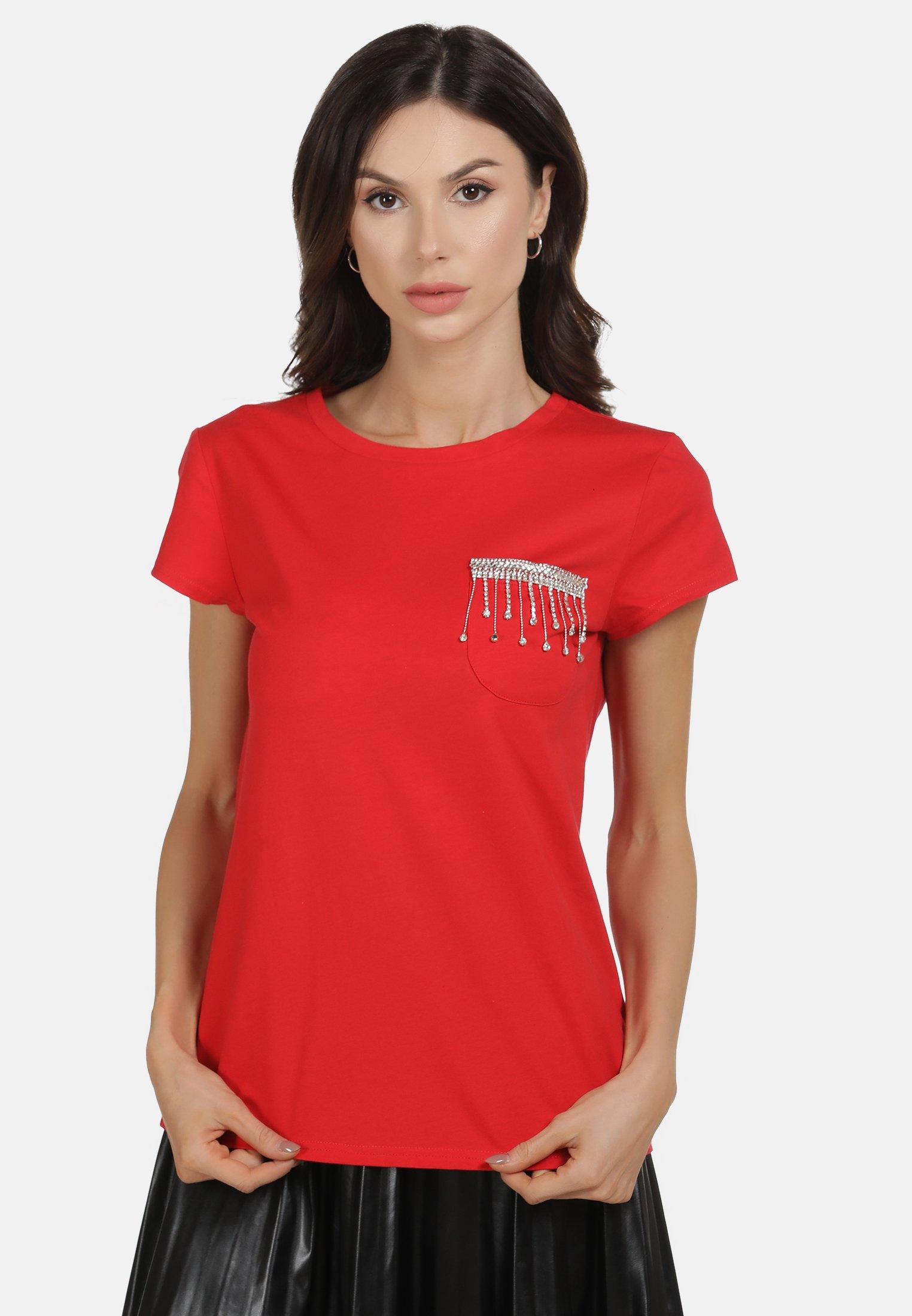 faina SHIRT - T-shirt z nadrukiem - red
