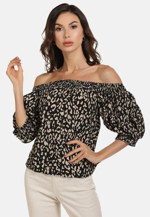 BLUSE - Blouse - brown