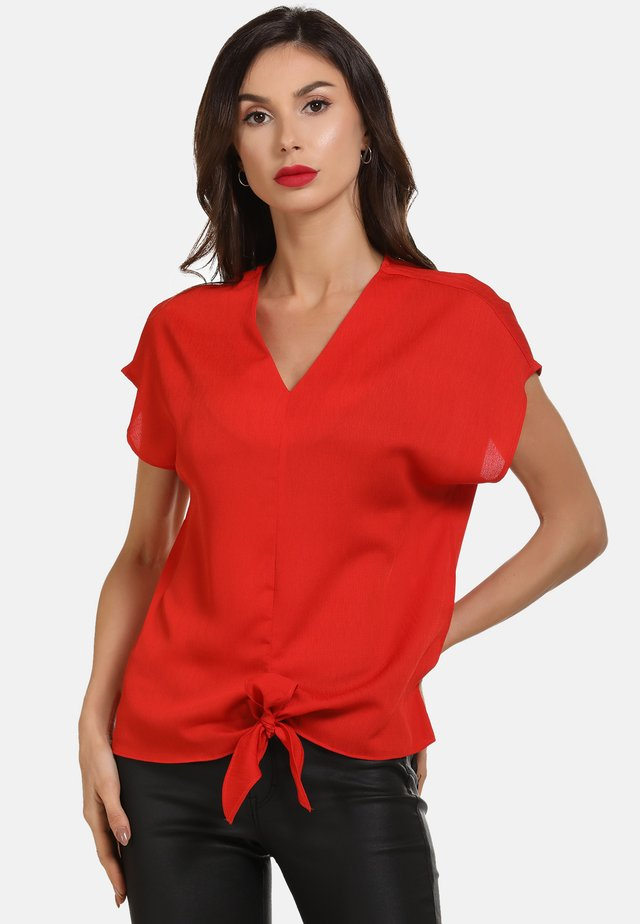 BLUSE - Blouse - rot
