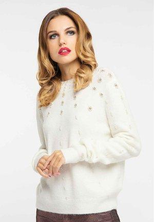 Sweter - wool white
