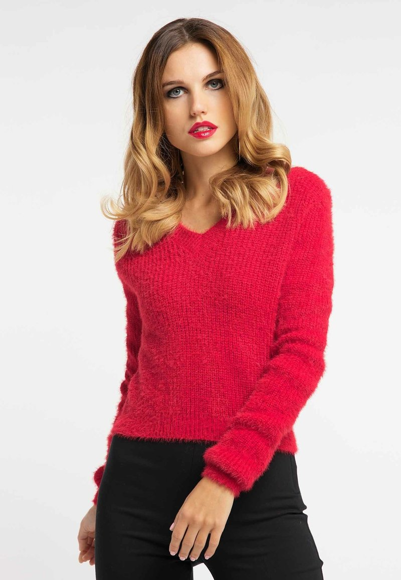 Faina - Pullover - red