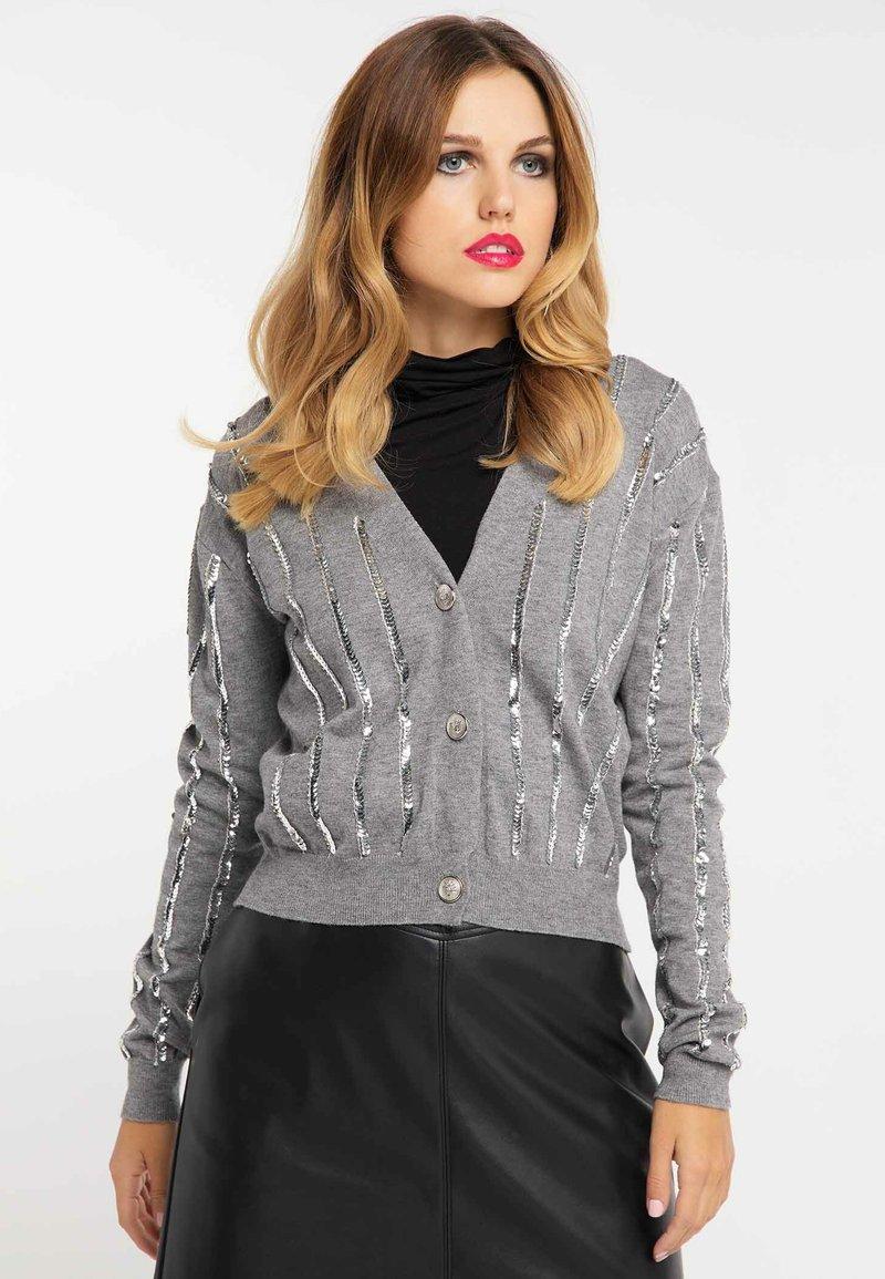 faina - Vest - melange grey