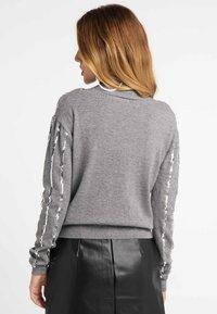 faina - Vest - melange grey - 2