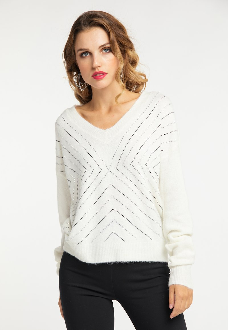 faina - Pullover - white