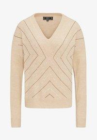 faina - Pullover - dark beige - 4