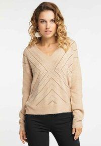 faina - Pullover - dark beige - 0