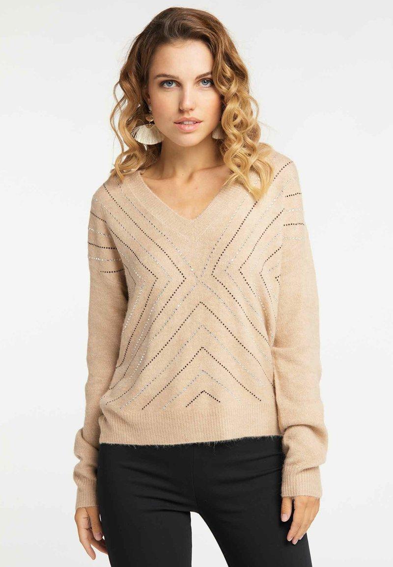 Faina - Pullover - dark beige