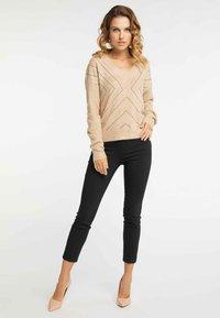 Faina - Pullover - dark beige - 1