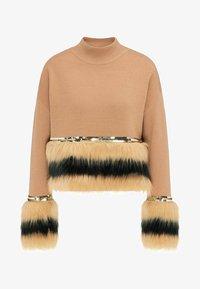 faina - Stickad tröja - kamel - 4