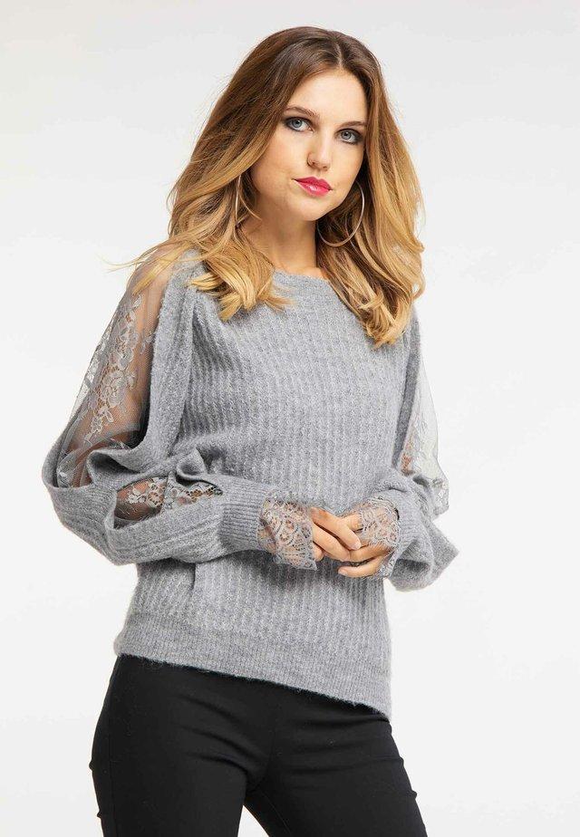 Sweter - gray melange