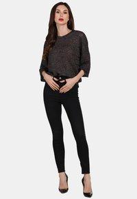 faina - Stickad tröja - black - 1