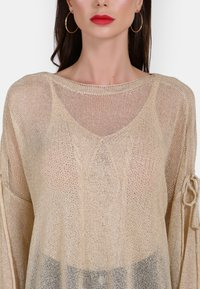 faina - Stickad tröja - beige - 3
