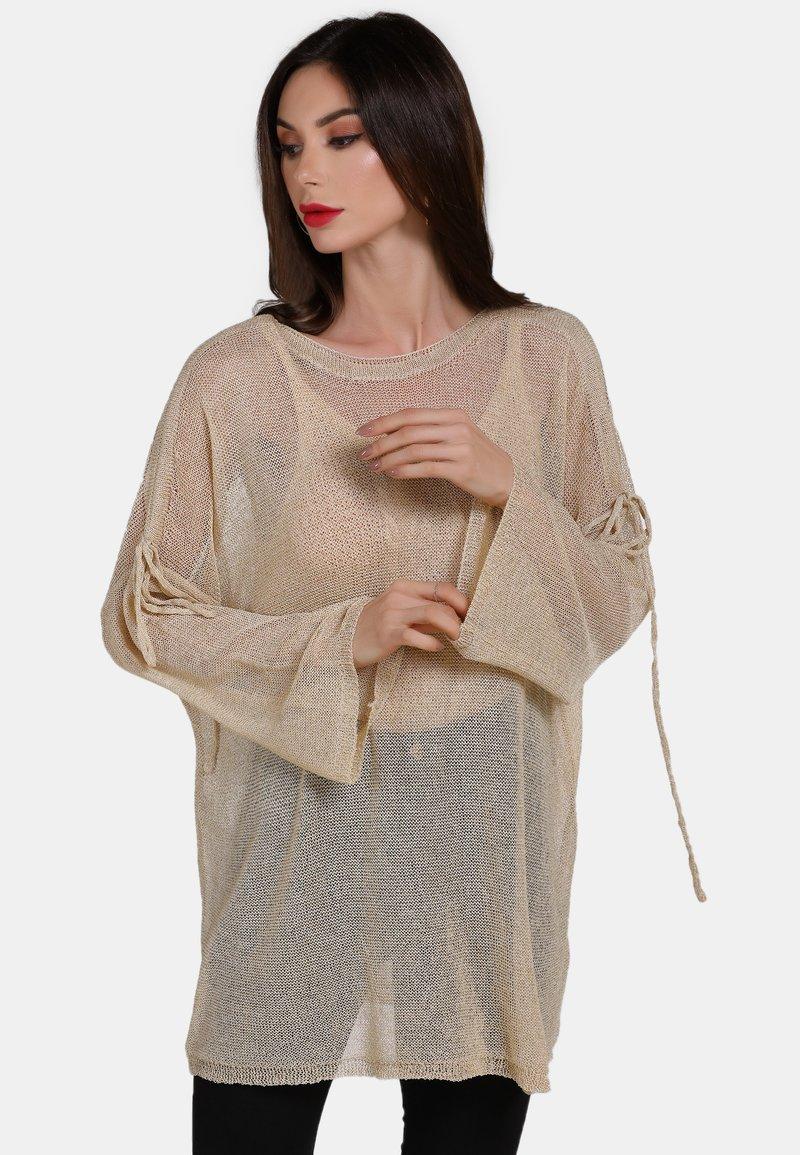 faina - Stickad tröja - beige