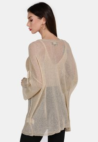 faina - Stickad tröja - beige - 2