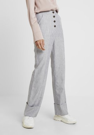 NERDY TROUSERS - Stoffhose - grey