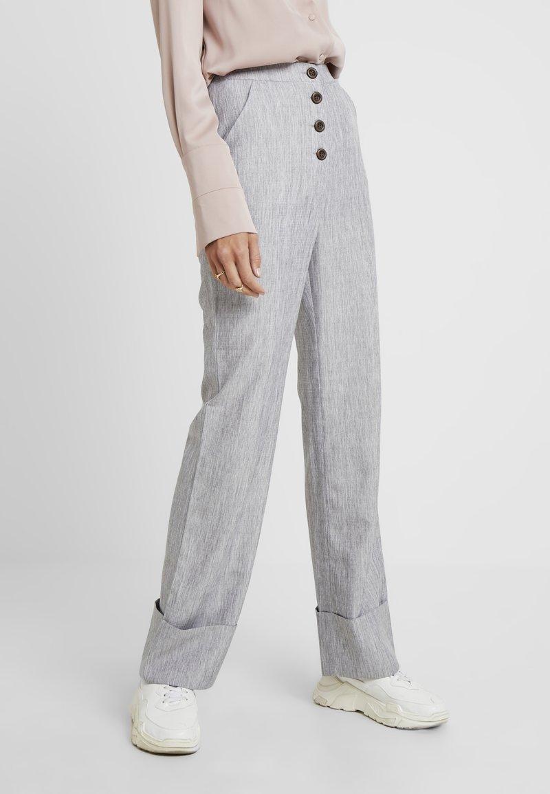 Fashion Union Tall - NERDY TROUSERS - Pantalones - grey