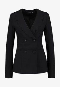 Fashion Union Tall - TORA SCALLOP TRIM - Blazer - black - 3