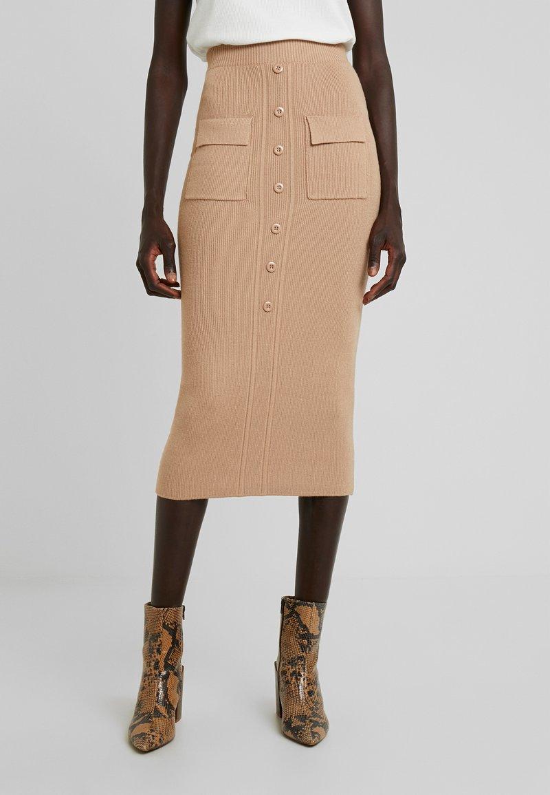 Fashion Union Tall - CLEOME - Pencil skirt - camel
