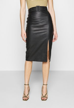 CARTER MIDI SKIRT - Kokerrok - black