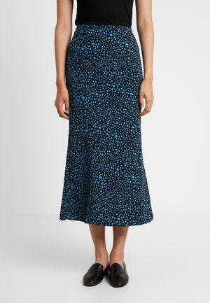 LOLITA SPOTTY MIDI SKIRT - Pencil skirt - turquoise