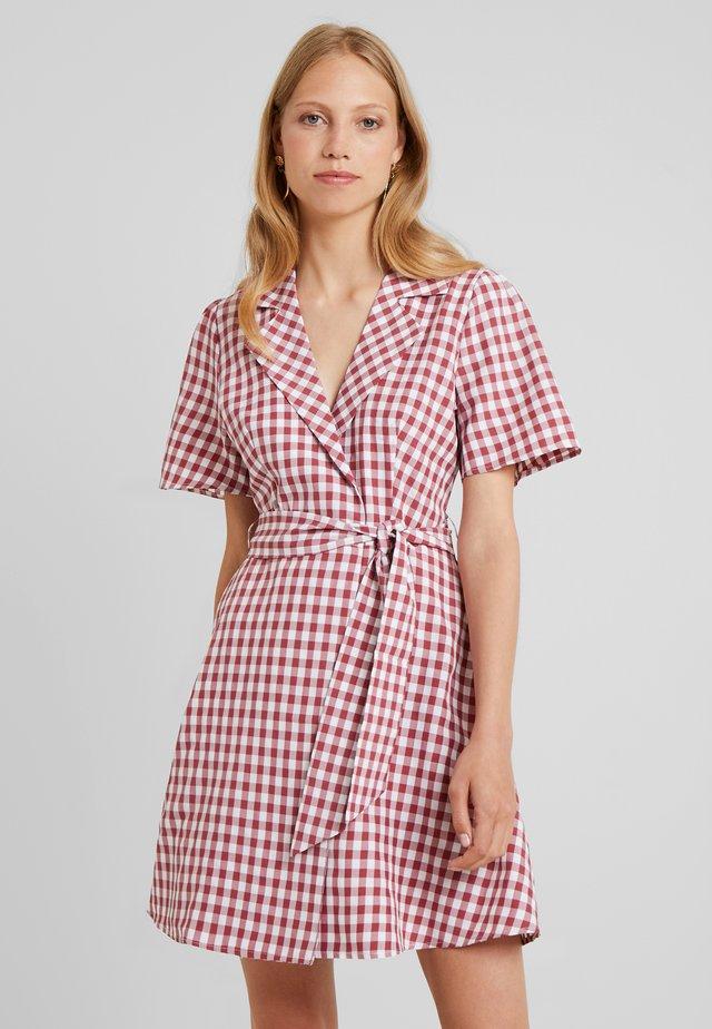 MINNIE - Shirt dress - red