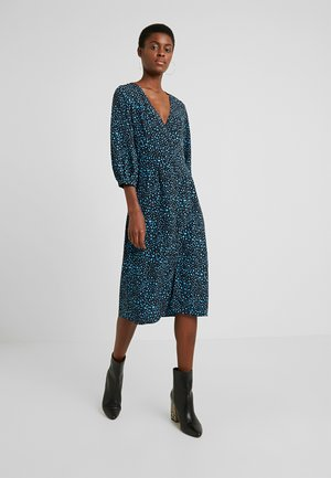 MULAN SPOTTY MIDI DRESS - Kjole - turquoise