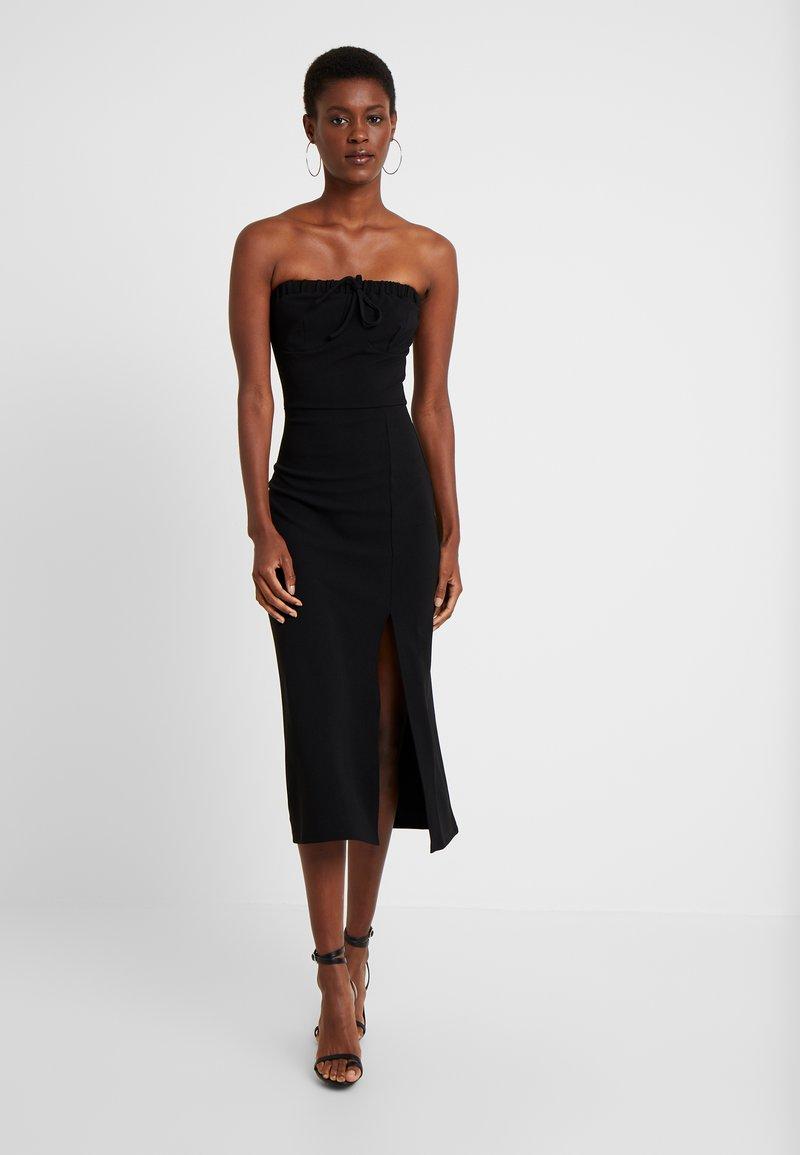 Fashion Union Tall - MARSHA BANDEAU MIDI DRESS - Shift dress - black