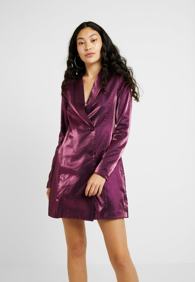 LOREM FASHION UNION METALLIC - Blousejurk - plum