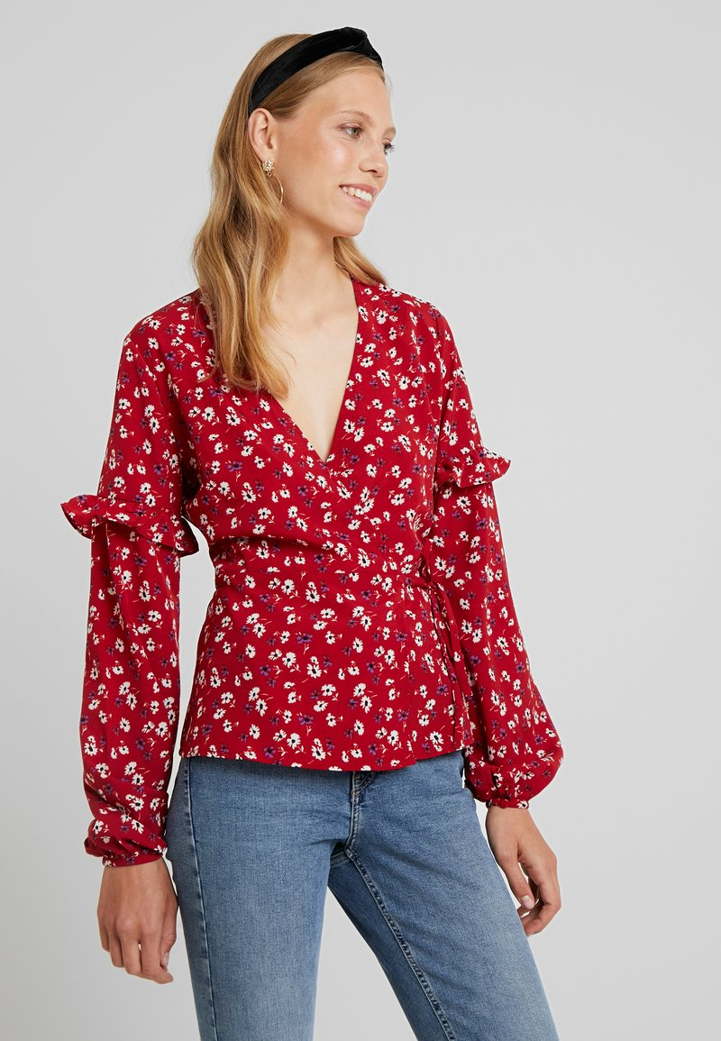 Fashion Union Tall - BILLY - Bluse - red base