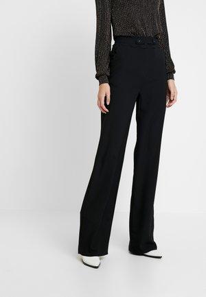 TORA SCALLOP TRIM TROUSER - Pantaloni - black