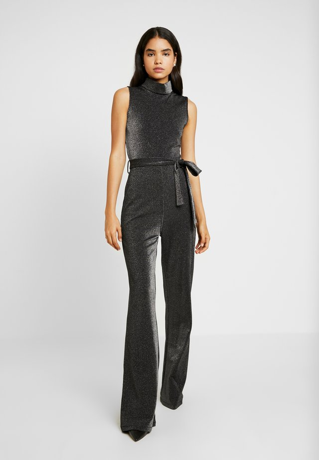 ELLEN WIDE LEG WITH HIGH NECK - Jumpsuit - black/silver