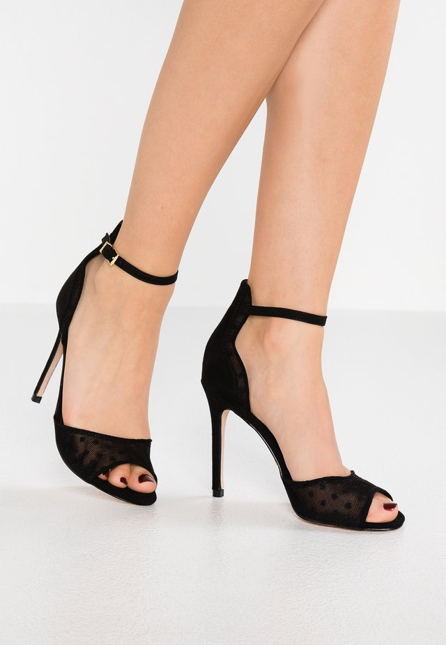 LOTTIE - High heeled sandals - black