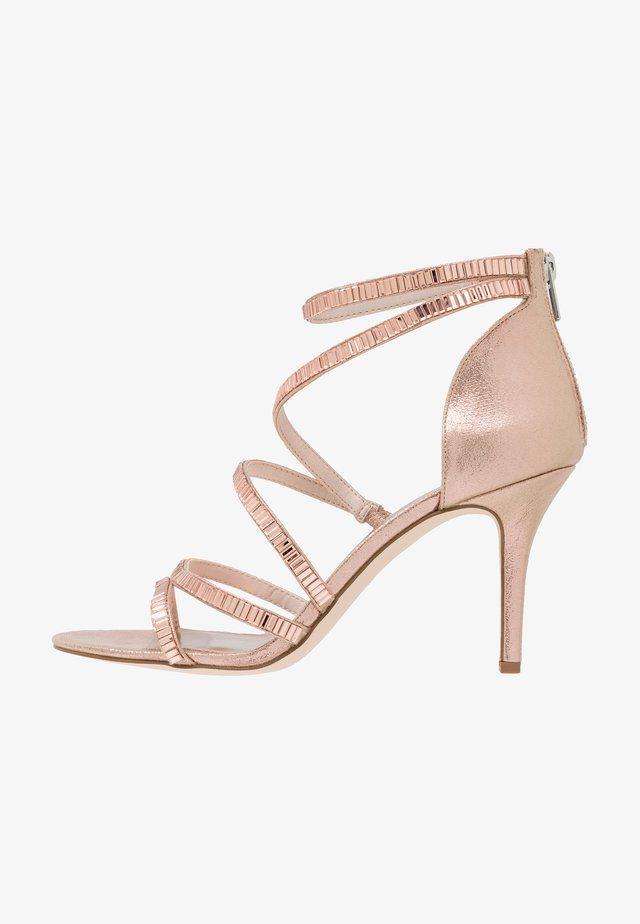 LINEA - Sandály na vysokém podpatku - rose