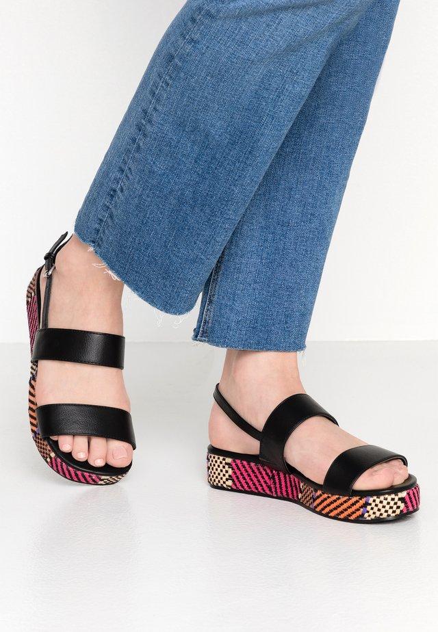 JAFFIA - Sandály na platformě - black