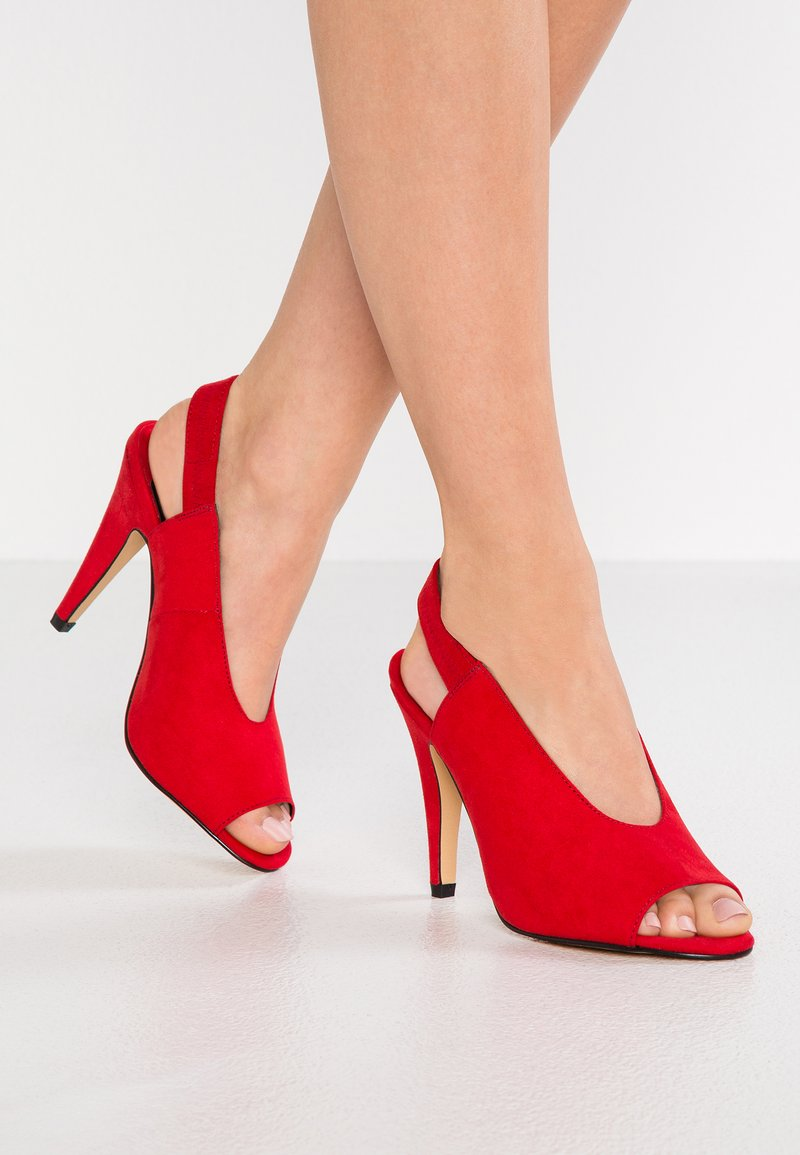 Faith - CIVINE - High Heel Peeptoe - red
