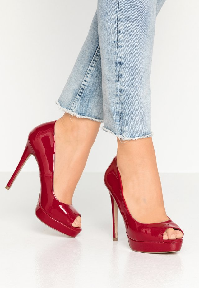 LOOK - High Heel Peeptoe - red