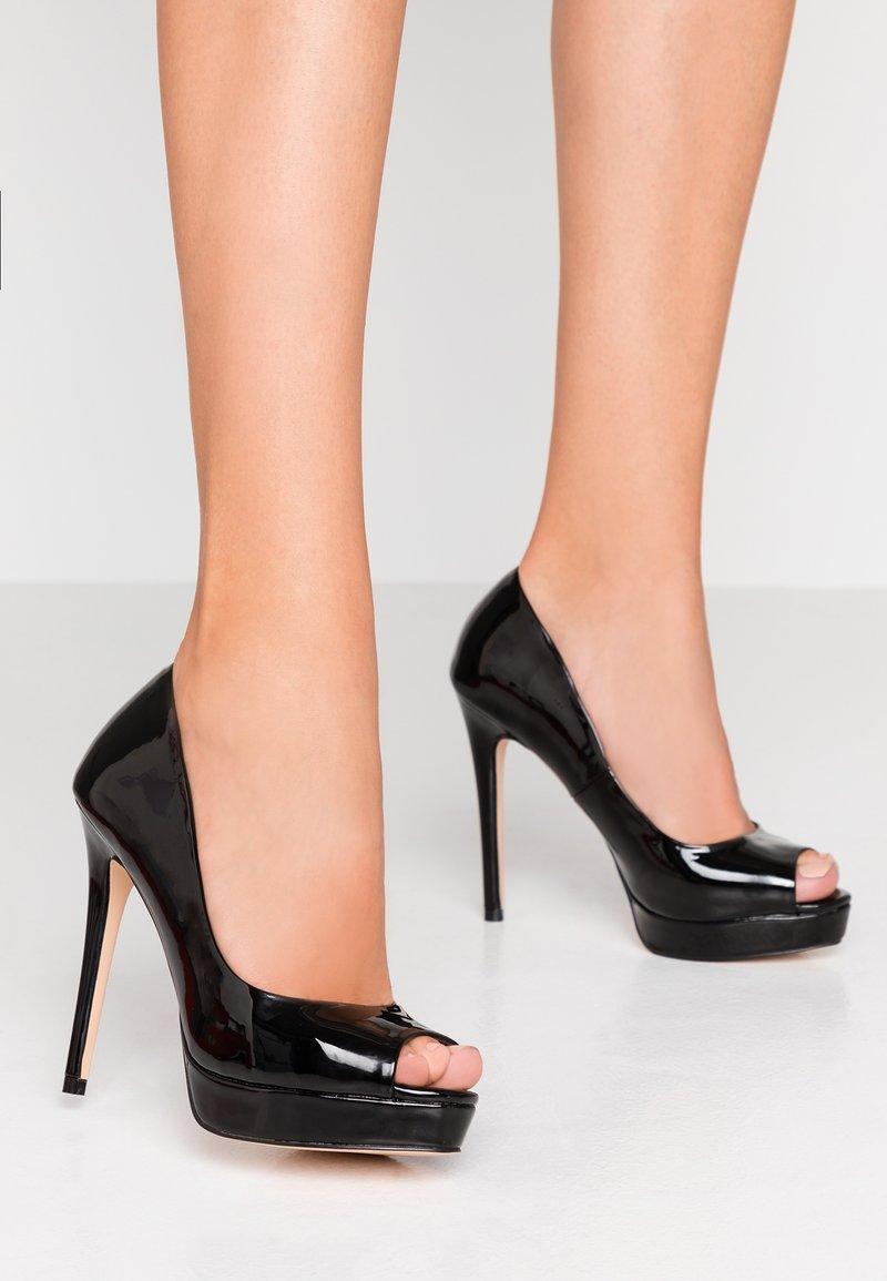 Faith - LOOK - Peeptoe heels - black