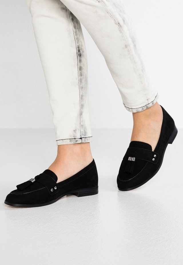 AMORE - Loaferit/pistokkaat - black