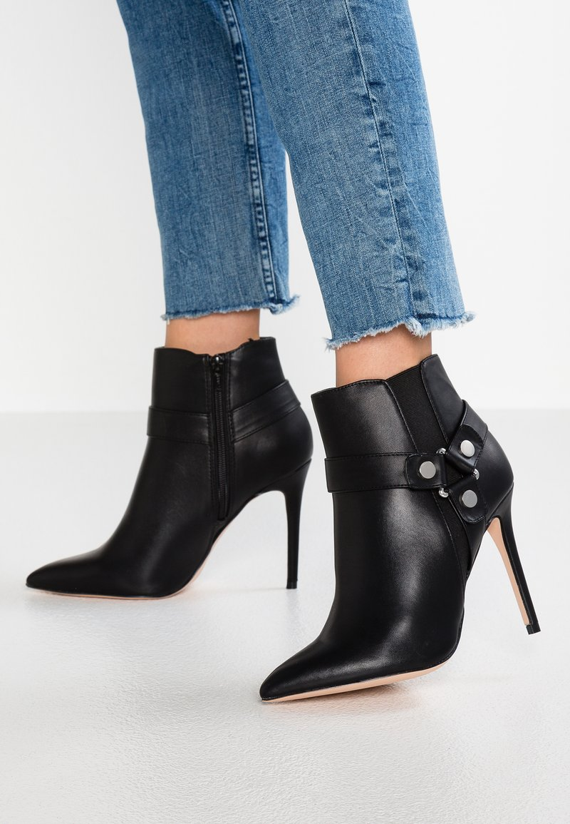 Faith Wide Fit  - WIDE FIT WIZ - High heeled ankle boots - black
