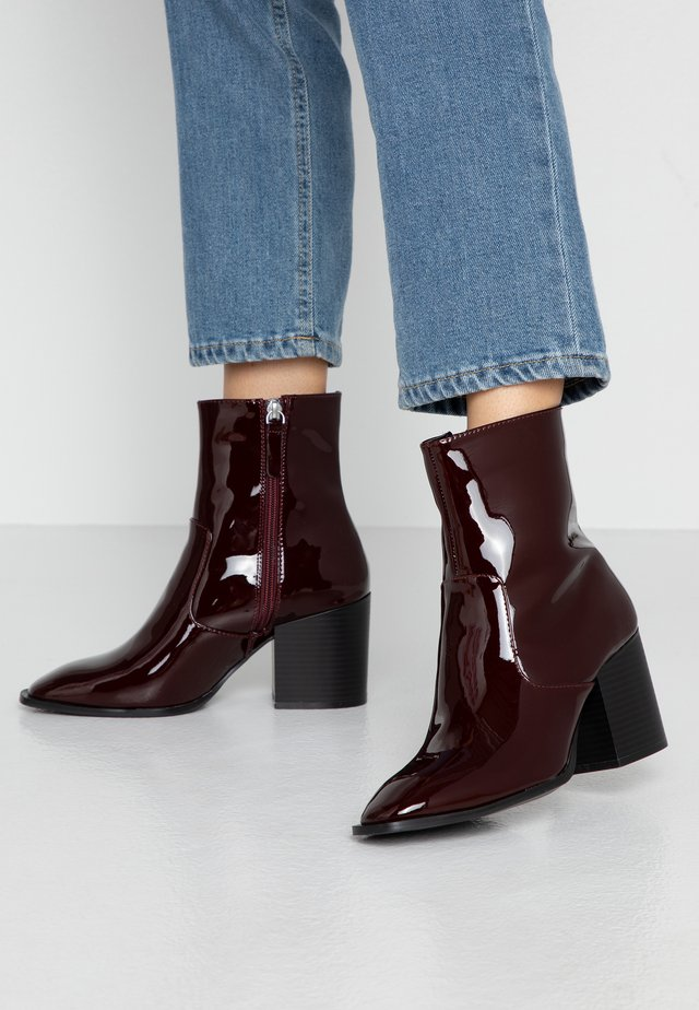 BUSTED - Classic ankle boots - maroon