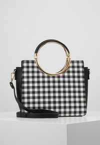 Faith - GINGHAM HANDLE GRAB - Handbag - black - 0