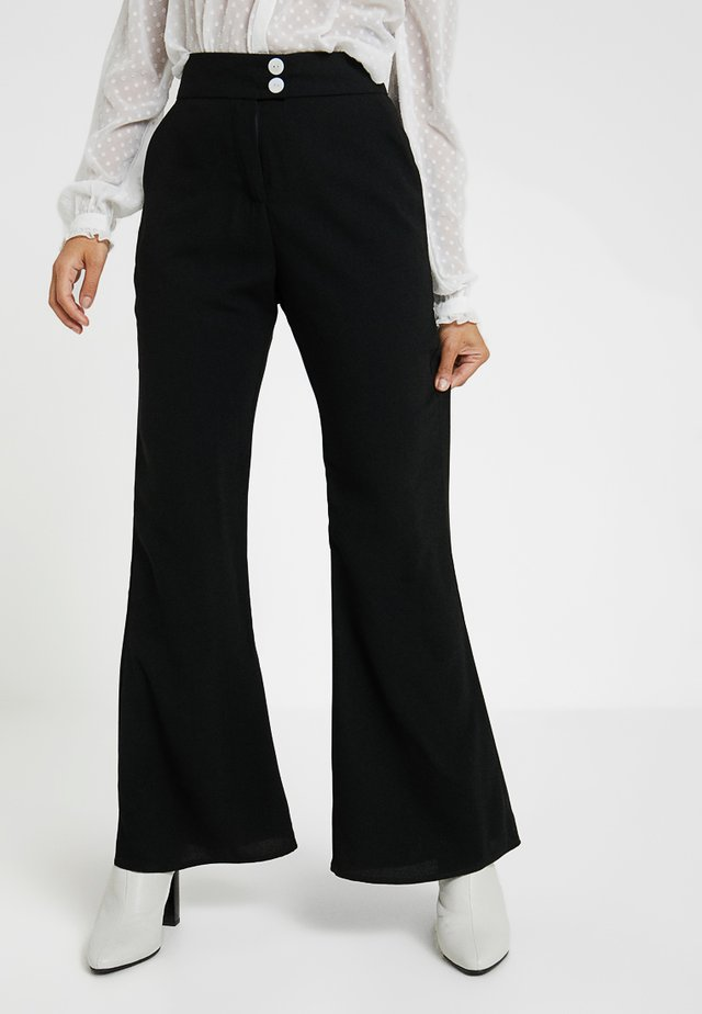 SEVENTIES TROUSER - Trousers - black