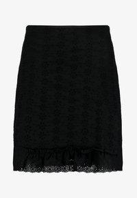 Fashion Union Petite - FASHION UNION ANGLAISE MINI SKIRT WITH FRILLED HEM - Spódnica trapezowa - black - 4